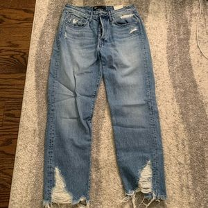 3x1 jeans with distressed bottom